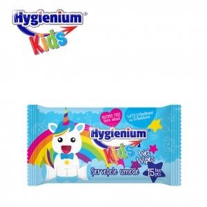 SERVETELE UMEDE HYGIENIUM KIDS BLUE 15BUC