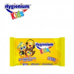 SERVETELE UMEDE HYGIENIUM KIDS SMILEY FACE 15BUC